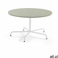 Stół PLURAL, Ø 1300x720 mm, linoleum, szary, biały - ogłoszenia A6.pl