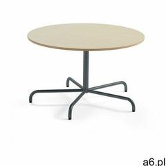 Stół plural, Ø 1200x720 mm, hpl, brzoza, antracyt marki Aj produkty - ogłoszenia A6.pl