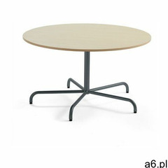 Stół PLURAL, Ø 1300x720 mm, HPL, brzoza, antracyt - ogłoszenia A6.pl