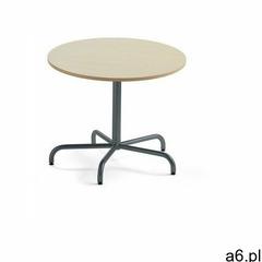 Stół plural, Ø 900x720 mm, hpl, brzoza, antracyt marki Aj produkty - ogłoszenia A6.pl