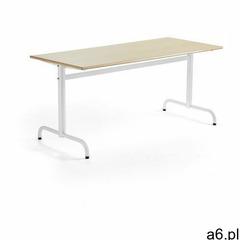 Stół PLURAL, 1600x700x720 mm, HPL, brzoza, biały - ogłoszenia A6.pl