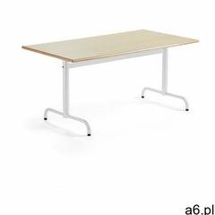 Stół PLURAL, 1400x800x720 mm, HPL, brzoza, biały - ogłoszenia A6.pl