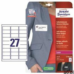 Identyfikator AVERY ZWECKFORM 63,5x29,6 L4784-20, L4784-20 - ogłoszenia A6.pl