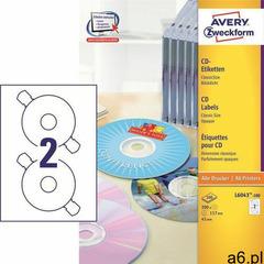Etykiety AVERY ZWECKFORM CD/DVD op.100 L6043-100 (4004182036549) - ogłoszenia A6.pl