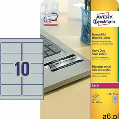 Etykiety AVERY ZWECKFORM sreb. 96x50,8 L6012-20 - ogłoszenia A6.pl