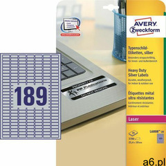 Etykiety AVERY ZWECKFORM sreb. 25,4x10 L6008-20 - ogłoszenia A6.pl