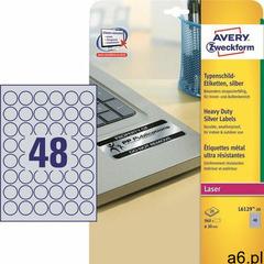 Etykiety AVERY ZWECKFORM sreb. fi 30mm L6129-20 - ogłoszenia A6.pl