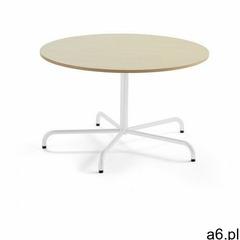 Aj produkty Stół plural, Ø 1200x720 mm, hpl, brzoza, biały - ogłoszenia A6.pl