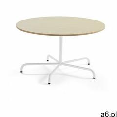 Aj produkty Stół plural, Ø 1300x720 mm, hpl, brzoza, biały - ogłoszenia A6.pl