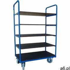 Wózek regałowy 250 kg, 5 półek 850x500x1500 mm marki Wiz - ogłoszenia A6.pl