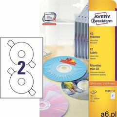 Etykiety AVERY ZWECKFORM CD/DVD op.25 L6043-25 (4004182060438) - ogłoszenia A6.pl