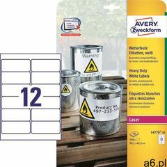 Etykiety AVERY ZWECKFORM HD 99,1x42,3 L4776-20, L4776-20 - ogłoszenia A6.pl