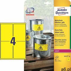 Etykiety AVERY ZWECKFORM HD 99,1x139 żół L6127, L6127-20 - ogłoszenia A6.pl