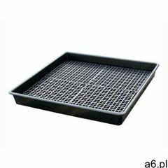 Taca ociekowa z 4-częściową kratownicą 99l (100 x 100 x 12 cm) czarny do 150 l. z kratownicą 100 cm  - ogłoszenia A6.pl