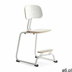 Krzesło szkolne yngve, płozy, biały, 520 mm marki Aj produkty - ogłoszenia A6.pl