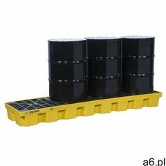 Paleta wychwytowa justrite pod 4 beczki - 284l 4 beczki żółty 151 l. - 400 l. z kratownicą 246,5 cm  - ogłoszenia A6.pl