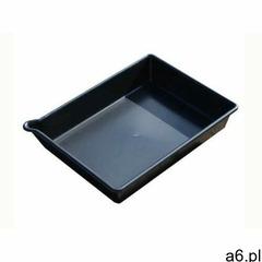 Tacka ociekowa - kuweta z rynienką ułatwiającą opróżnianie 16l (53 x 40 x 10 cm) czarny do 150 l. be - ogłoszenia A6.pl
