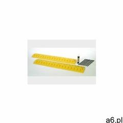 Ogranicznik prędkości wraz z osłoną na kable, polietylenowy (hdpe), żółty żółty 274,3 cm x 25,4 cm x - ogłoszenia A6.pl
