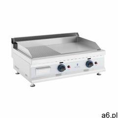 Royal Catering Podwójny grill gazowy - 74,5 x 40 cm - gładki / ryflowany - 2 x 3100 W - propan / but - ogłoszenia A6.pl