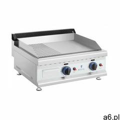 Royal catering podwójny grill gazowy - 60 x 40 cm - gładki / ryflowany - 2 x 3100 w - propan-butan - - ogłoszenia A6.pl