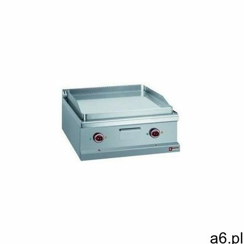 Płyta grillowa elektryczna 1/2 gładka, 1/2 ryflowana nastawna | 650x500mm | 8000 W - 1