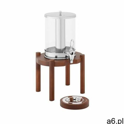 Royal Catering Dyspenser do soków - 7 l - system chłodzenia - ciemna drewniana podstawa RCSD-1W3 - 3 - 1