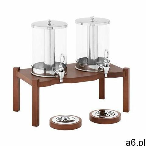 dyspenser do soków - 2 x 7 l - system chłodzenia - ciemna drewniana podstawa rcsd-2w3 - 3 lata gwara - 1