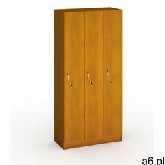 B2b partner Drewniana szafa ubraniowa trzydrzwiowa, 1900x900x420 mm, czereśnia - ogłoszenia A6.pl