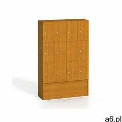 Drewniana szafa z zamykanymi schowkami, 12 boksów, czereśnia marki B2b partner - ogłoszenia A6.pl