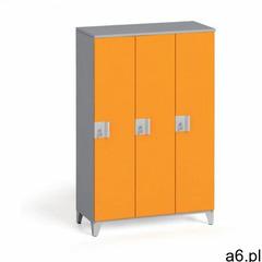 Szafa trzyczęściowa 1400 x 900 x 400 mm, szary/pomarańczowy marki B2b partner - ogłoszenia A6.pl