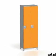 Szafa dwuczęściowa 1750 x 600 x 400 mm, szary/pomarańczowy - ogłoszenia A6.pl