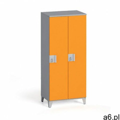 B2b partner Szafa dwuczęściowa 1400 x 600 x 400 mm, szary/pomarańczowy - ogłoszenia A6.pl