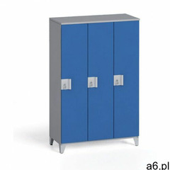 Szafa trzyczęściowa 1400 x 900 x 400 mm, szary/niebieski - ogłoszenia A6.pl