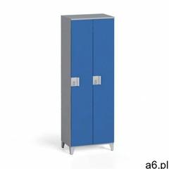 Szafa dwuczęściowa 1750 x 600 x 400 mm, szary/niebieski marki B2b partner - ogłoszenia A6.pl