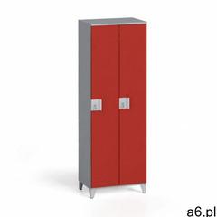 Szafa dwuczęściowa 1750 x 600 x 400 mm, szary/czerwony - ogłoszenia A6.pl