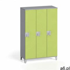 Szafa trzyczęściowa 1400 x 900 x 400 mm, szary/zielony marki B2b partner - ogłoszenia A6.pl