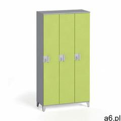 Szafa trzyczęściowa 1750 x 900 x 400 mm, sivá/zielona marki B2b partner - ogłoszenia A6.pl