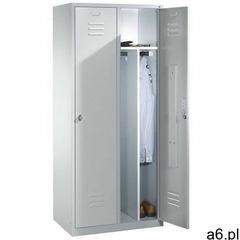 Cp Metalowa szafa ubraniowa 2-drzwiowa z przegrodą stałą na odzież czystą i brudną - szer. 81 cm - ogłoszenia A6.pl