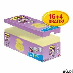 Karteczki POST-IT Super sticky Z-Notes R330-SSCY-VP20 76x76mm 16x90 kart. zółty 4 bloczki gratis - ogłoszenia A6.pl