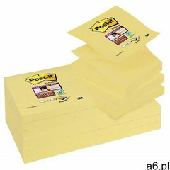 Karteczki post-it super sticky z-notes (r330-12ss-cy), 76x76mm, 1x90 kart., żółty marki Post-it-3m - ogłoszenia A6.pl