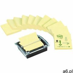 Bloczki ekologiczne post-it z-notes (c2014y12-1), 76x76mm, 12x100 kart., żółte + podajnik gratis - ogłoszenia A6.pl
