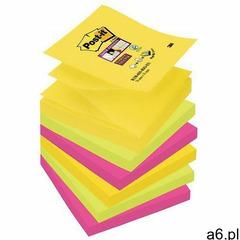 Karteczki samop. POST-IT Super sticky Z-Notes R330-6SS-RIO, 76x76mm, 6x90 kart., paleta Rio de Janei - ogłoszenia A6.pl