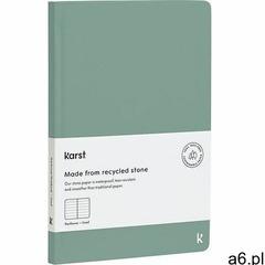 Notes a5 w twardej oprawie w linie zielony marki Karst - ogłoszenia A6.pl