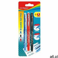 Długopis , 0,7mm, wymazywalny, 2szt. + 1 gratis, blister, mix kolorów marki Keyroad - ogłoszenia A6.pl