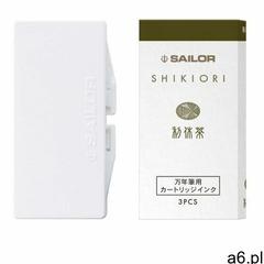 Sailor Atrament Shikiori Rikyucha Zielona Herbata Naboje, 13-0350-214 - ogłoszenia A6.pl