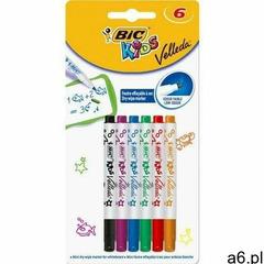 Mini markery suchościeralne Bic Kids Velleda 6 sztuk + zakładka do książki GRATIS (3086126707426 - ogłoszenia A6.pl