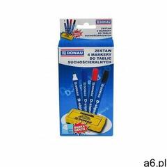 Zestaw 4 markery do tablic DONAU D-Signer B, okrągły, mix kolorów, gąbka gratis, 7372904-99PL - ogłoszenia A6.pl