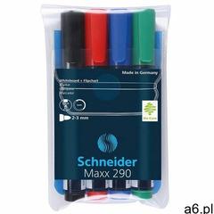 Zestaw markerów do tablic SCHNEIDER Maxx 290, 2-3 mm, 4 szt., miks kolorów - ogłoszenia A6.pl
