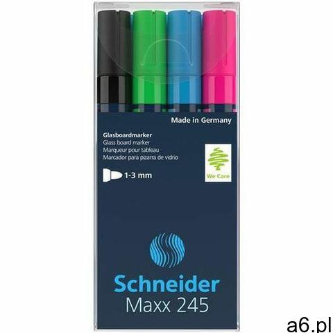 Schneider Marker do szklanych tablic maxx 245 c 2-3mm 4szt. mix kolorów (4004675136091) - 1