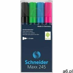 Schneider Marker do szklanych tablic maxx 245 c 2-3mm 4szt. mix kolorów (4004675136091) - ogłoszenia A6.pl